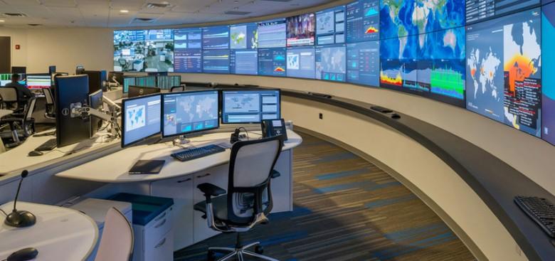 Control room/NOC 24 x 7 video walls
