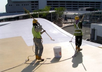 Roof waterproofing and concrete protection works